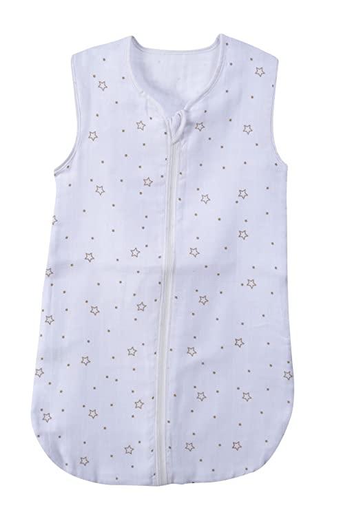 PMP saco de dormir de verano (muselina Doudou blanco/ecru 65 cm 0 –