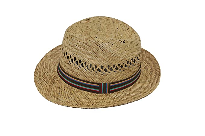 ceb3d4b50 GIZZY® Children's, Boys, Girls, Natural Straw Trilby Sun Hat with Band.