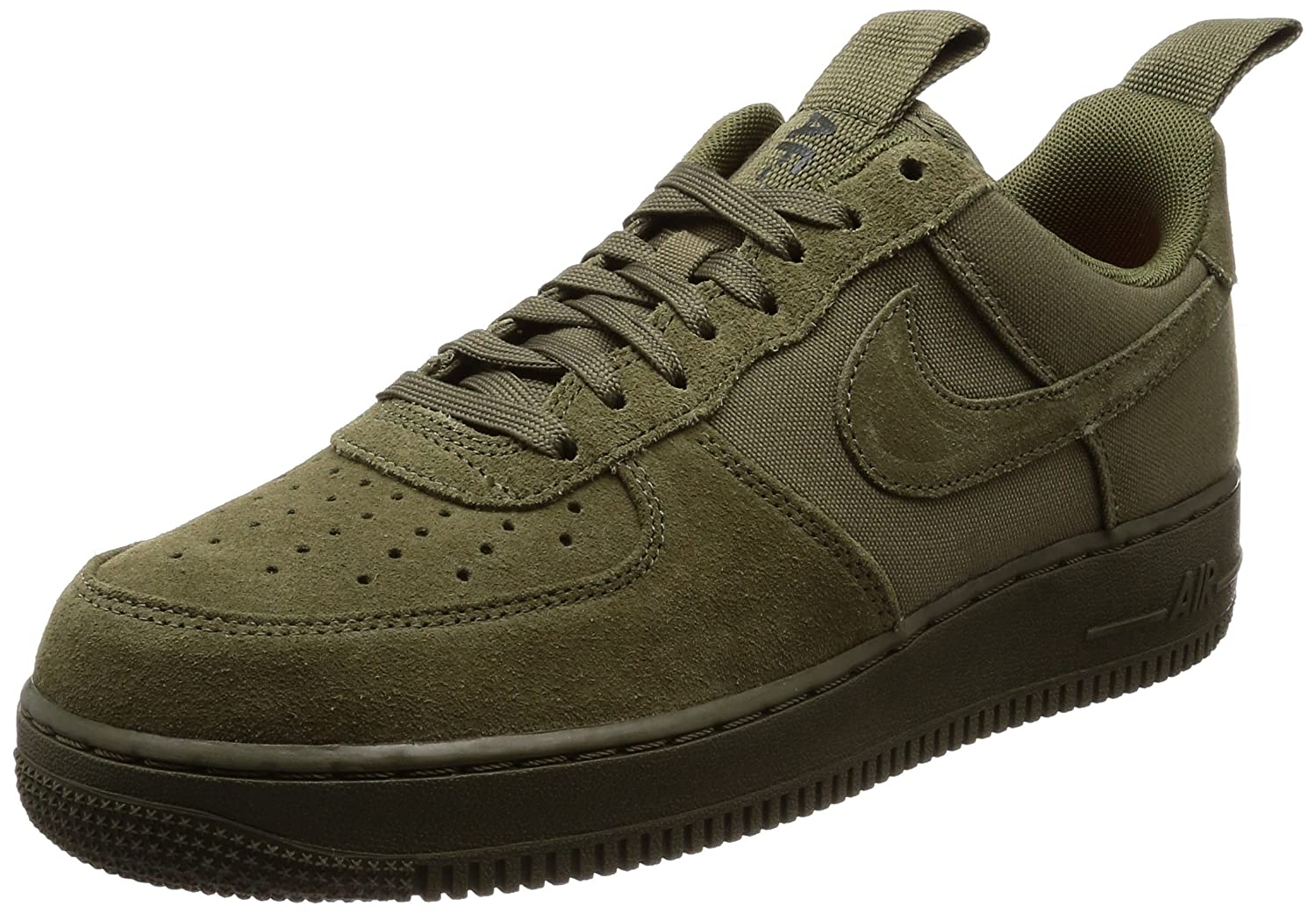 3015995fd64c Nike Herren Air Force 1 07 Oliv Leder Synthetik Textil Sneaker 43 EU Oliv  (Medium Olive Sequoia Rush Orange) - sommerprogramme.de