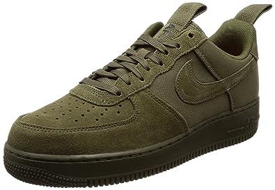 38f5e26d0271 NIKE Chaussures AIR Force 1 '07 Canvas pour Homme en Vert Olive 579927-200