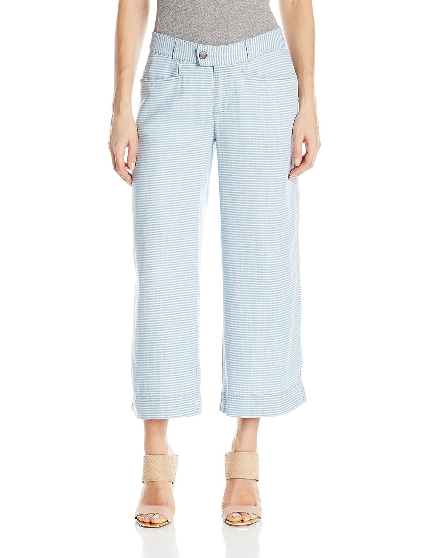 bluee Wash Foxcroft Womens Phoebe Pinstripe Denim Tencel Pant Pants