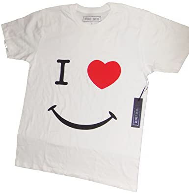 25d3947b1 Young Lovers White T-Shirt I Heart Smiles New York Classic Vintage Tee  Shirts (