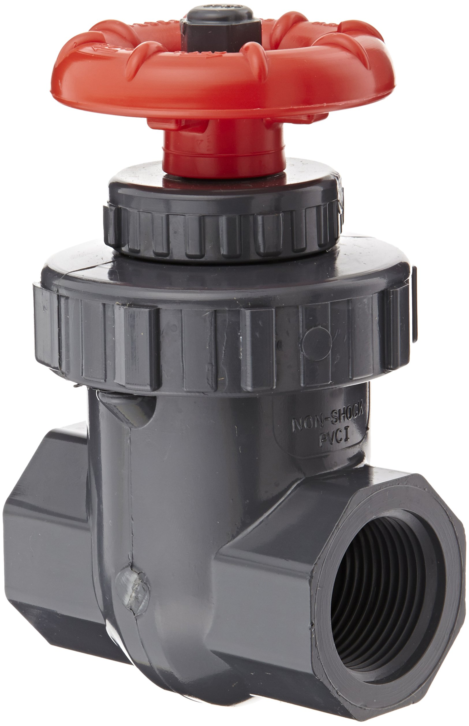 Spears PVC Gate Valve, Non-Rising Stem, Buna-N O-Ring, 1'' NPT Female by Spears Manufacturing (Image #1)