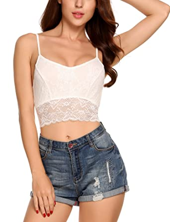 c6a6e1c5a0f02 Zeagoo Women s Sexy Lace Bralette Breathable Stretch Floral Lace Bra ...