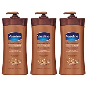 Vaseline Intensive Care Body Lotion, Cocoa Radiant, 20.3 Fl Oz (Pack of 3)