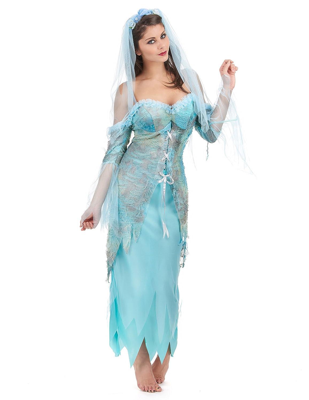 Disfraz sirena turquesa mujer - L: Amazon.es: Juguetes y juegos