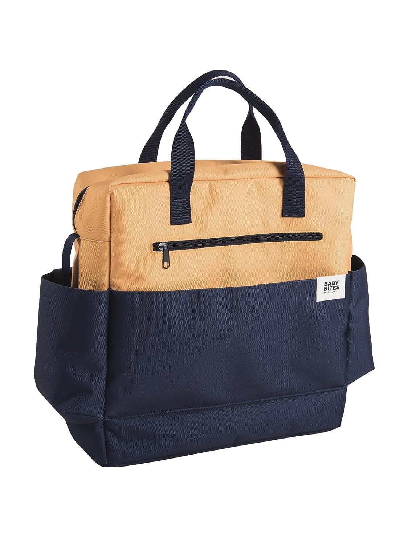 Baby Bites Original–Bag Stroller Navy and Mustard–Waterproof