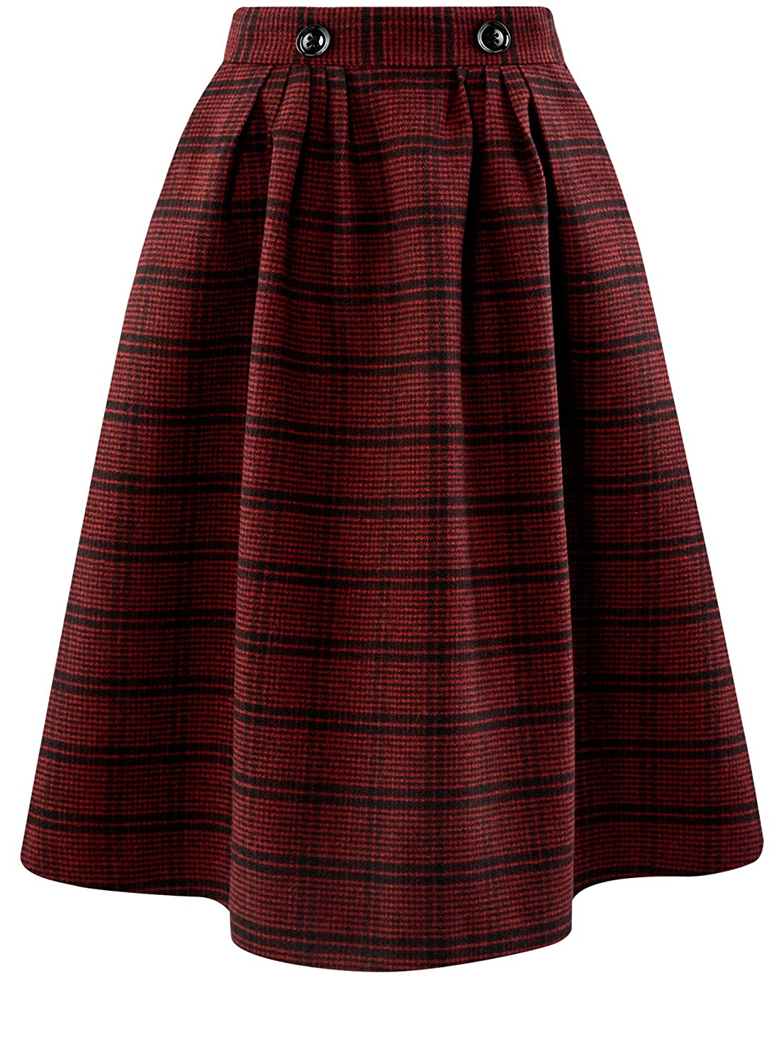 7b9ccb3f1 oodji Ultra Women's Midi Skirt in Heavyweight Fabric with Pockets:  Amazon.co.uk: Clothing