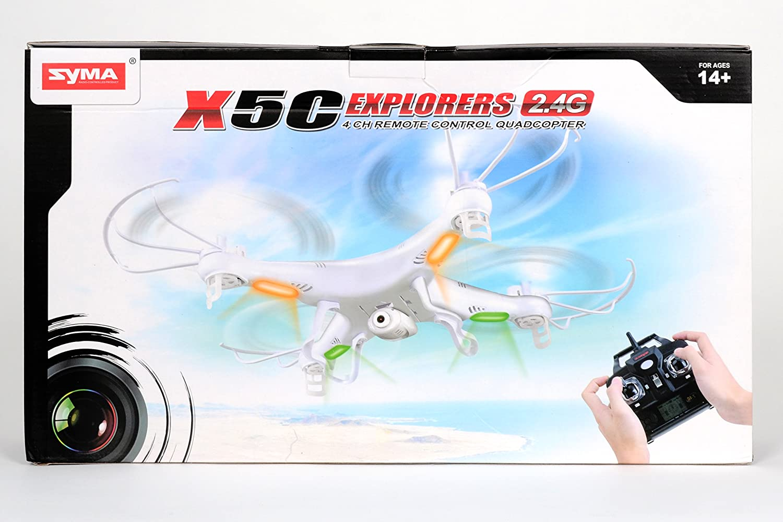 DROHNE QUADCOPTER 3D RC GYRO 4CH X5C EXPLORERS 4 KANAL 2.4G MIT TON HD KAMERA 2GB MINI SD + ERSATZROTOREN