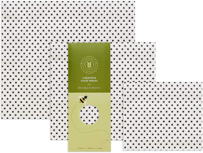 Envoltorio de cera de abeja orgánica de sustento, reutilizable ...