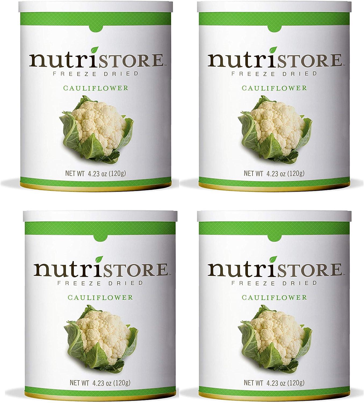 Nutristore Freeze Dried Cauliflower   Perfect Healthy Snack   Emergency Survival Bulk Food Storage   Amazing Taste & Quality   25 Year Shelf Life