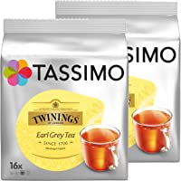 Tassimo Twinings Earl Grey Tea, Pack of 2, 2 x 16 T-Discs