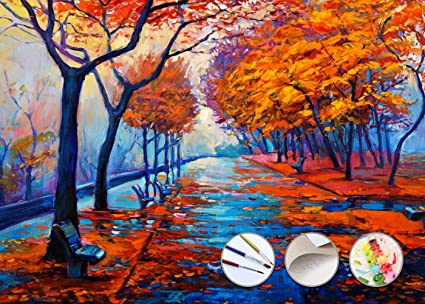 Paint By Numbers Kit For Adults By Alto Crafto Diy Paint By Numbers Landscape W Impressionist Style Pastoral Scene Pre Printed Art Quality Canvas 3 Brushes 24 Acrylic Paints Included 20 X 16