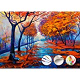 "Paint by Numbers Kit for Adults by Alto Crafto | DIY Paint by Numbers Landscape w/ Impressionist-Style Pastoral Scene | Pre-Printed Art-Quality Canvas, 3 Brushes, 24 Acrylic Paints Included, 20"" x 16"" (50.8 x 40.64cm)"