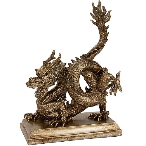 Oriental Furniture 11 Chinese Dragon Statue