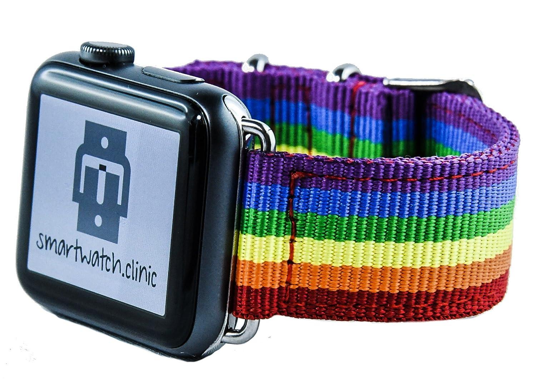 smartwatch. Clinic pulsera Rainbow para Apple Watch Series 1/2/3 ...
