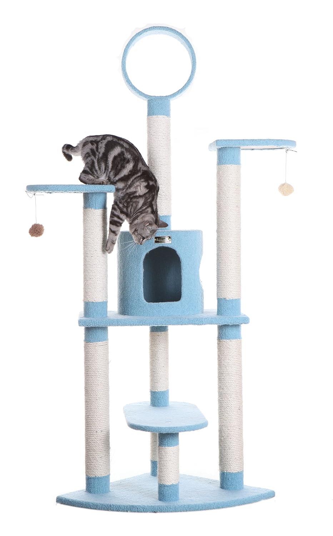 38\ Armarkat Classic Cat Tree B6605 Sky bluee