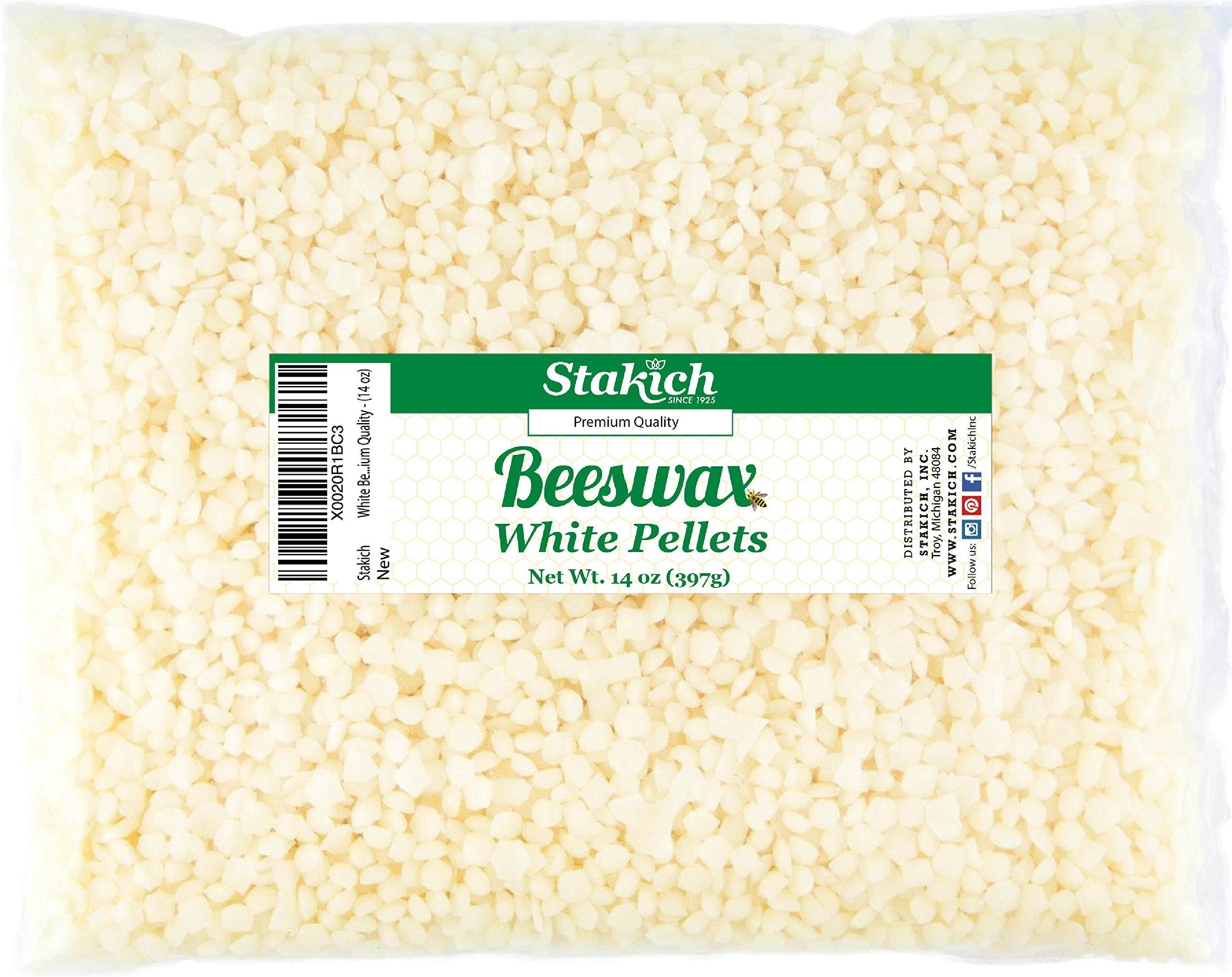 Stakich White Beeswax Pellets Premium Cosmetic Grade, 5 Pound