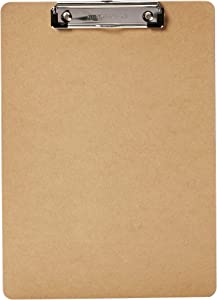 AmazonBasics Hardboard Office Clipboard - 12-Pack