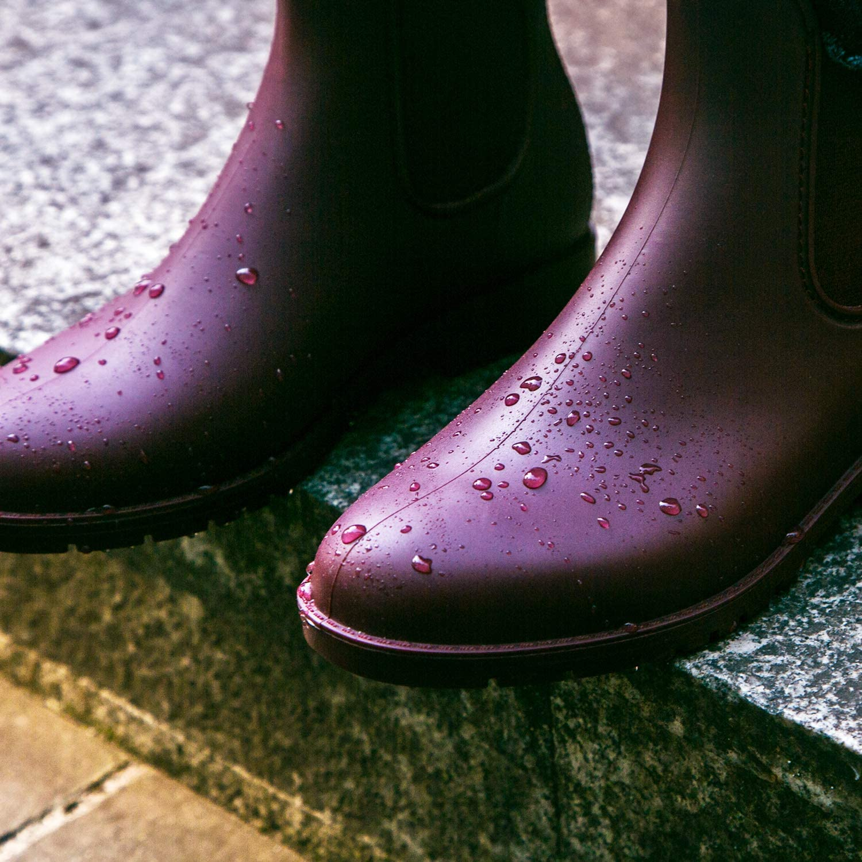 K KomForme Women Rain Boots Chelsea Short Ladies Waterproof Wellington,Rain Shoes for Women Size 3-7