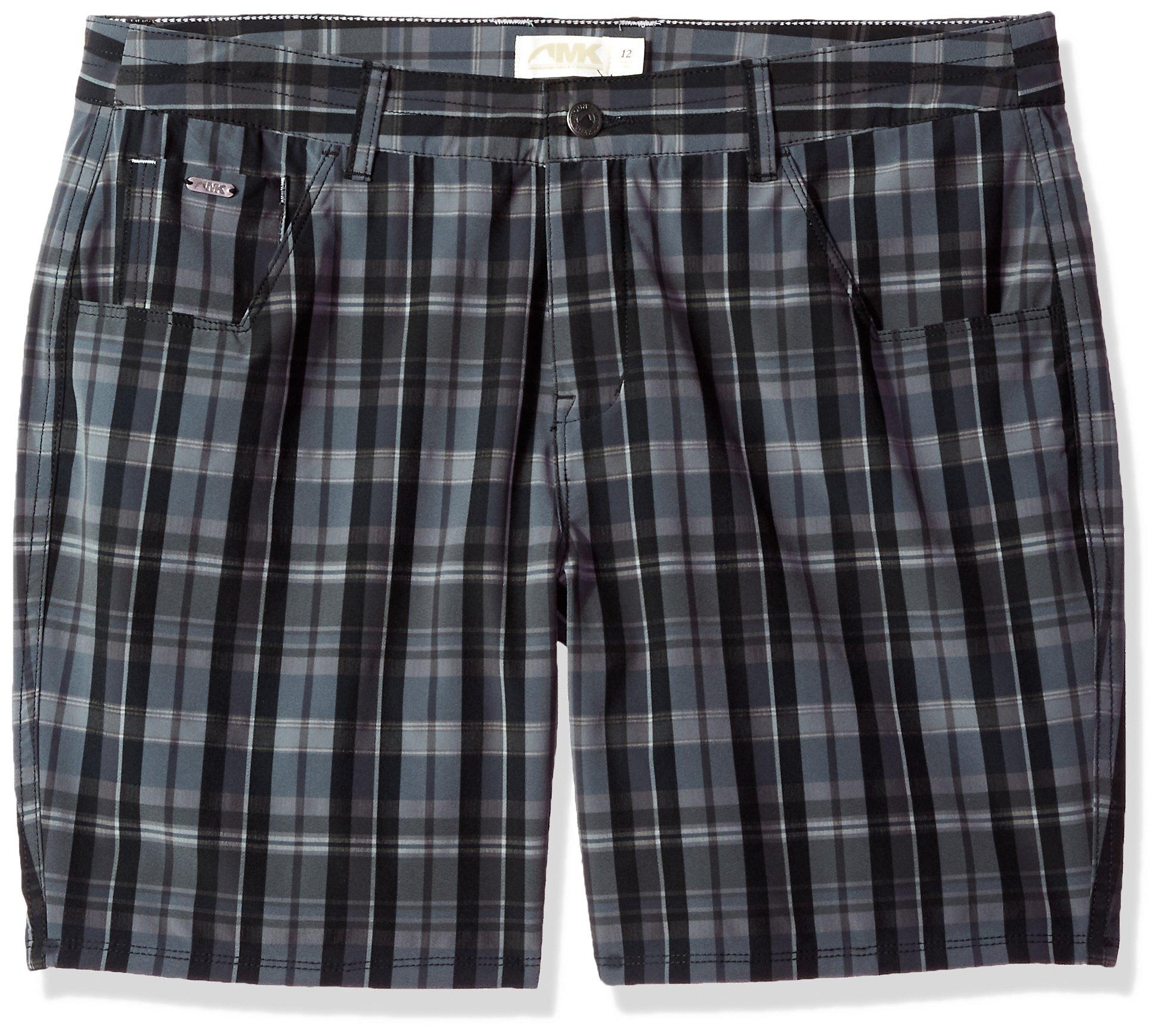 Mountain Khakis Azalea Short Classic fit Shorts, Black Plaid, Size 4/7