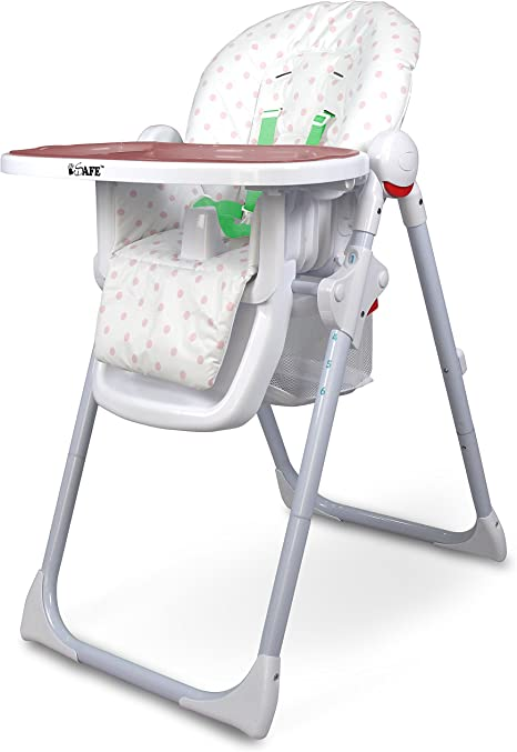 Isafe Mama Highchair Pepper Mint Recline Compact Padded Baby