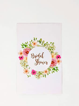 Rustic Bridal Shower Invites - 25 Watercolor Floral cardstock Invitations for Bridal Shower and 25 Matching
