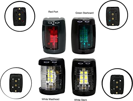 Boat//Marine//Port//Starboard//Stern Pair 12V LED White Navigation Light KIt
