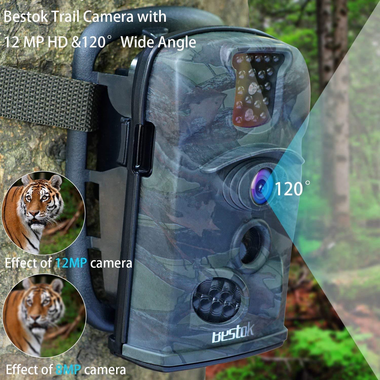 Bestok Cámara de Caza 12MP 1080P Cámara de Vigilancia Trail Cámara (Verde Oscuro): Amazon.es: Deportes y aire libre