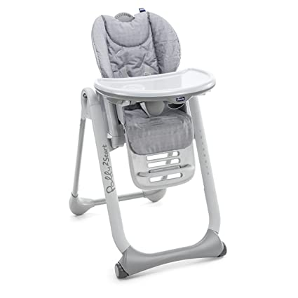 Chicco highchair POLLY 2 START 0834=HAPPY SILVER: Amazon.es ...