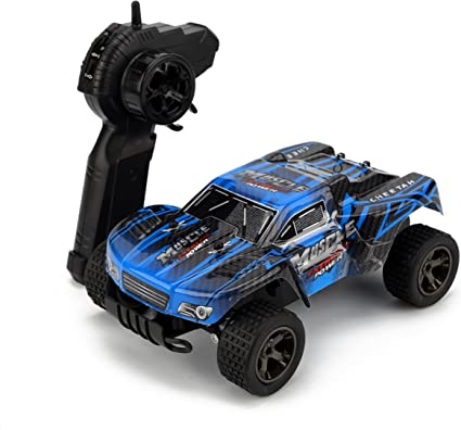 Amazon Com Rc Car Kingbot 20mph H 1 18 Scale 2 4ghz High Speed Radio Control Die Cast Off Road Vehicle With 50m Remote Control Racing Cars Blue Toys Games