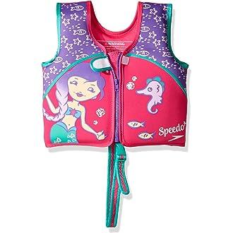 94eb87f89a600  2 Speedo Kids  UPF 50+ Begin to Swim Printed Neoprene Swim Vest