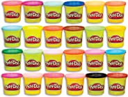 Play-Doh Modeling Compound 24-Pack Case of Colors, Non-Toxic, Multi-Color, 3-Ounce Cans, Ages 2 and up, Multicolor (Amazon E