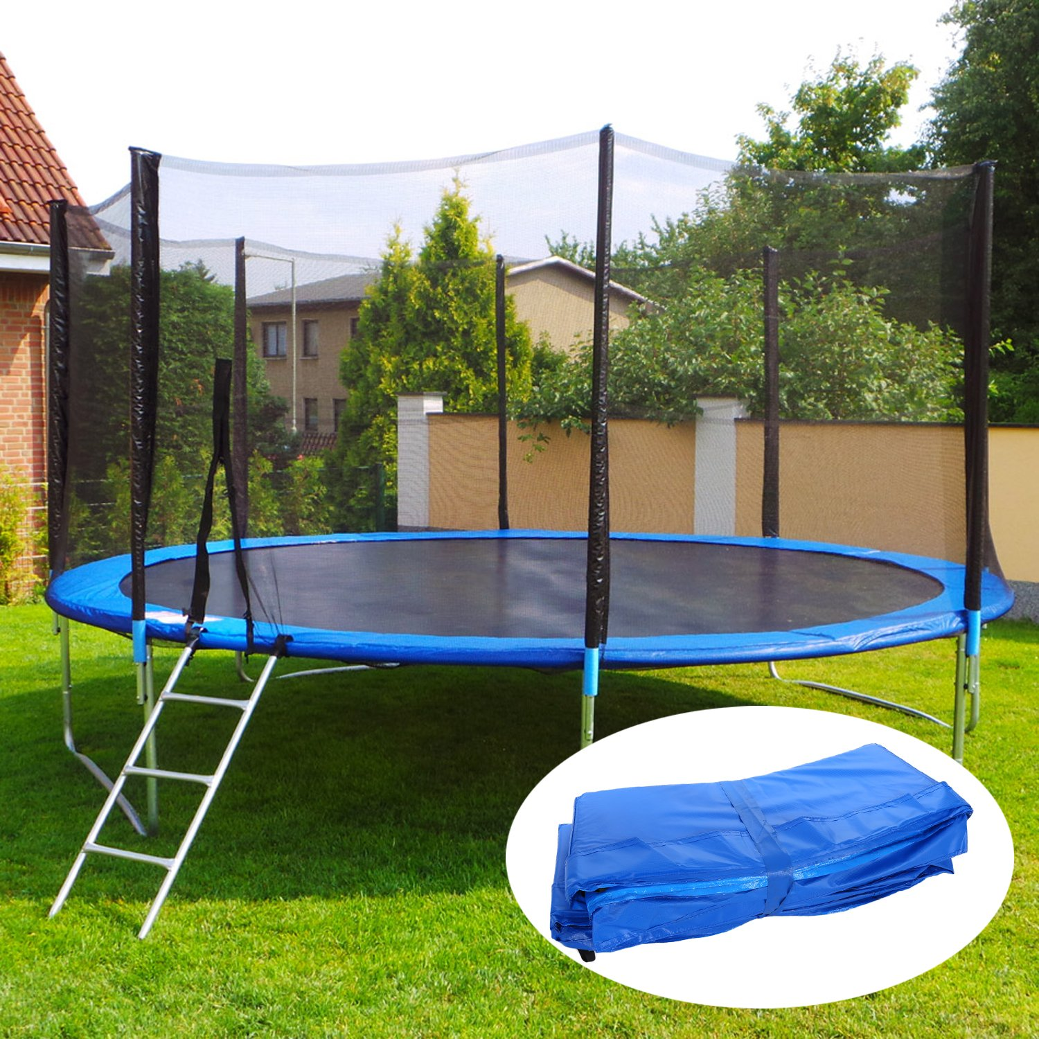 15 14 12 10 Ft Replacement Trampoline Surround PVC Pad Foam Safety Spring Cover Padding Pads (Blue, 15 Ft) by Zafuar Sports (Image #6)