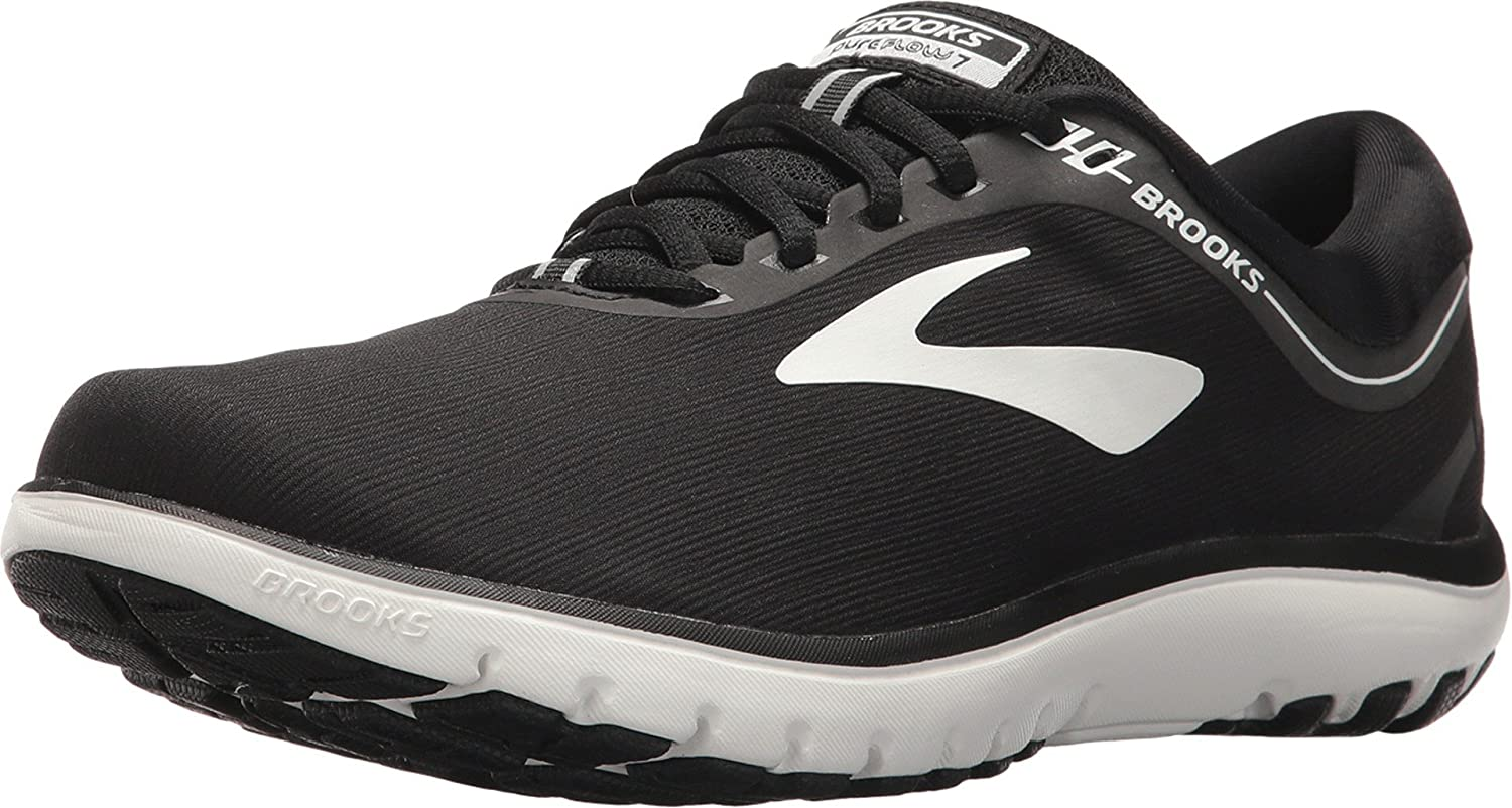 Brooks Pureflow 7, Zapatillas de Running para Niñas, Negro (Black/White 048), 35.5 EU: Amazon.es: Zapatos y complementos