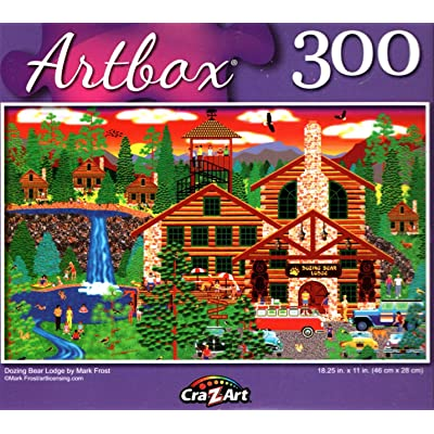 Dozing Bear Lodge by Mark Frost - 300 Pieces Jigsaw Puzzle: Toys & Games