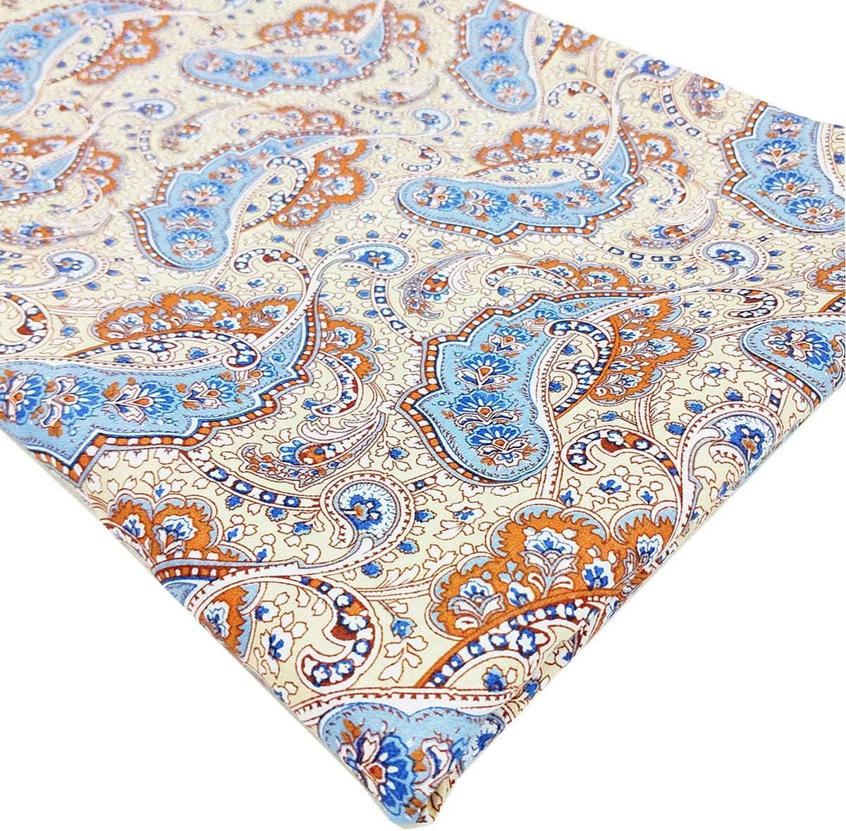 Black, 1 Yard Tong Gu Retro Paisley Floral Printed Fabric 100/% Cotton Clothing Accessories DIY Craft
