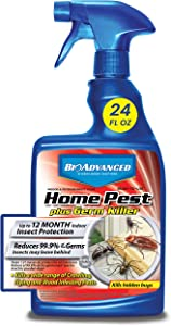 BioAdvanced 700460A Home Pest Plus Germ Killer, Pest Control, Bug Spray for Home, for Indoor and Outdoor, 24-Ounce, Ready-to-Use