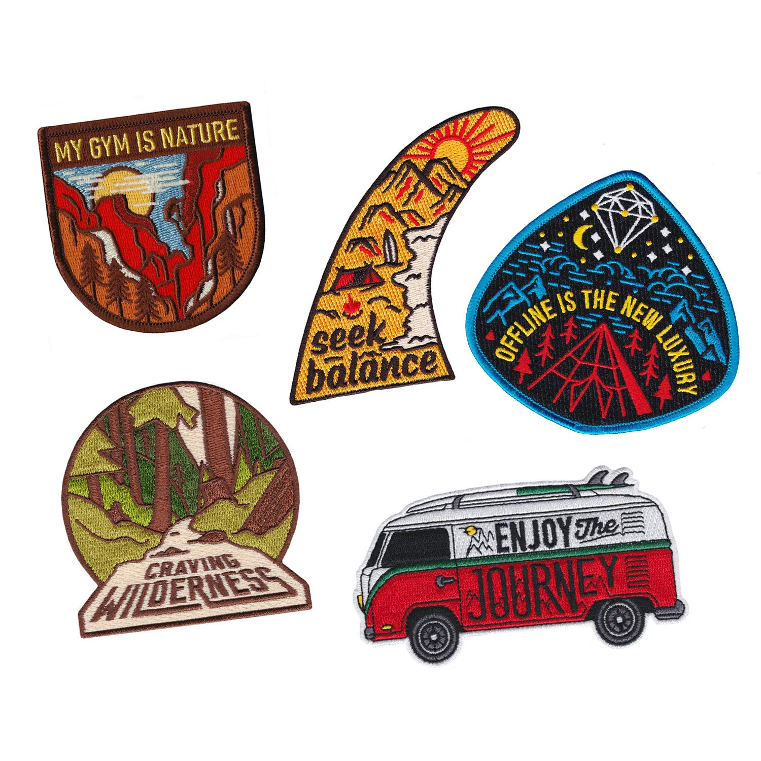 Asilda Store Embroidered Sew or Iron-on Patch (Adventure Set #2) by