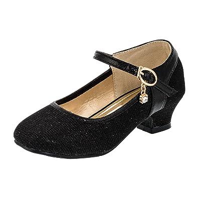 Festliche Mädchen Pumps Ballerina Schuhe Absatz Glitzer in Vielen Farben   Amazon.de  Schuhe   Handtaschen aea92413e0