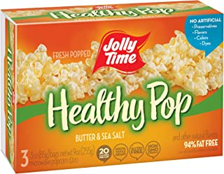 product image for Jolly Time Healthy Pop Butter 94% Fat Free Weight Watchers Microwave Popcorn, 3-Count Boxes (Pack of 12)