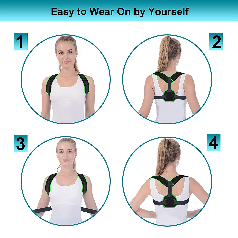 Upper Back Brace for Clavicle Support and Protecting Pain from Neck Back /& Shoulder ,016 Adjustable Back Straightener 2019 VALOIN Best Back Posture Corrector for Men and Women
