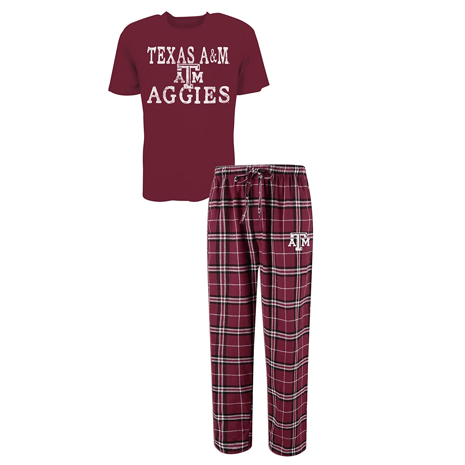 Concepts Sport Men's NCAA Duo Flannel Pajamas and T-Shirt Sleep Set