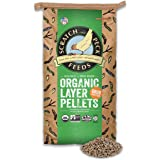 Scratch and Peck Feeds Naturally Free Organic Layer Pellets Chicken Feed with Grub Protein - 25-lbs. - Non-GMO Project Verifi