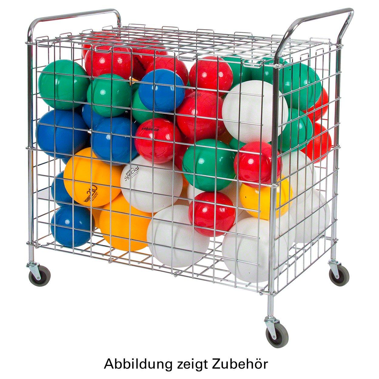 Ballwagen Standard für Sporthallen Gitterwagen Vielzweckwagen Ballbox, fahrbar Sport-Tec
