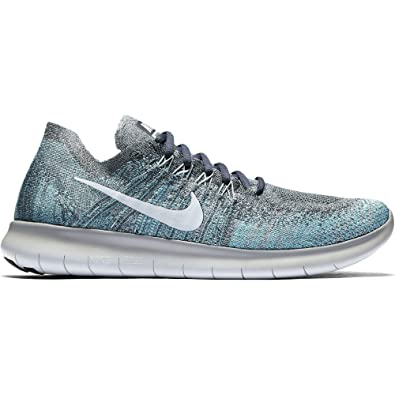 9e0481cc1fef Nike Men s Free RN Flyknit 2017 Running Shoe BLUE FOX PURE PLATINUM-WOLF  GREY-WHITE 15.0  Amazon.co.uk  Shoes   Bags