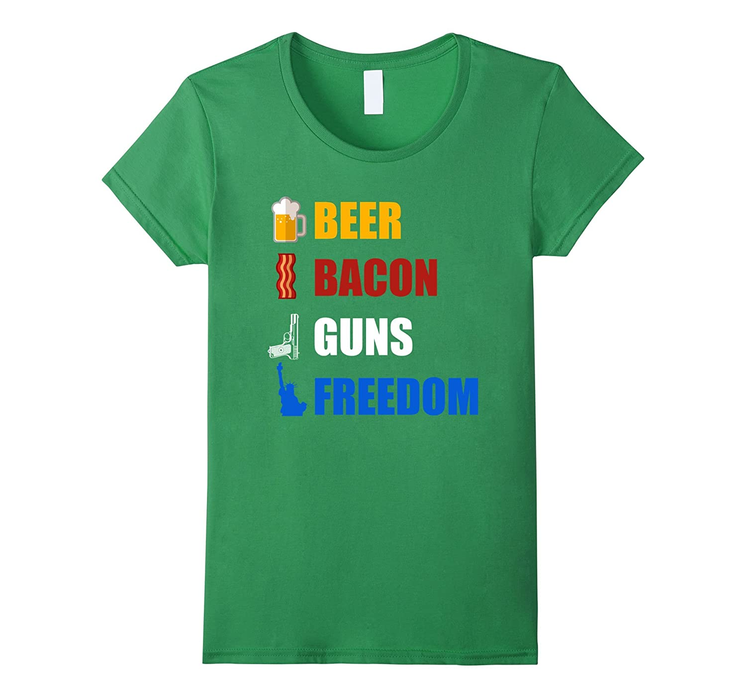 Beer Bacon Guns And Freedom T-Shirt