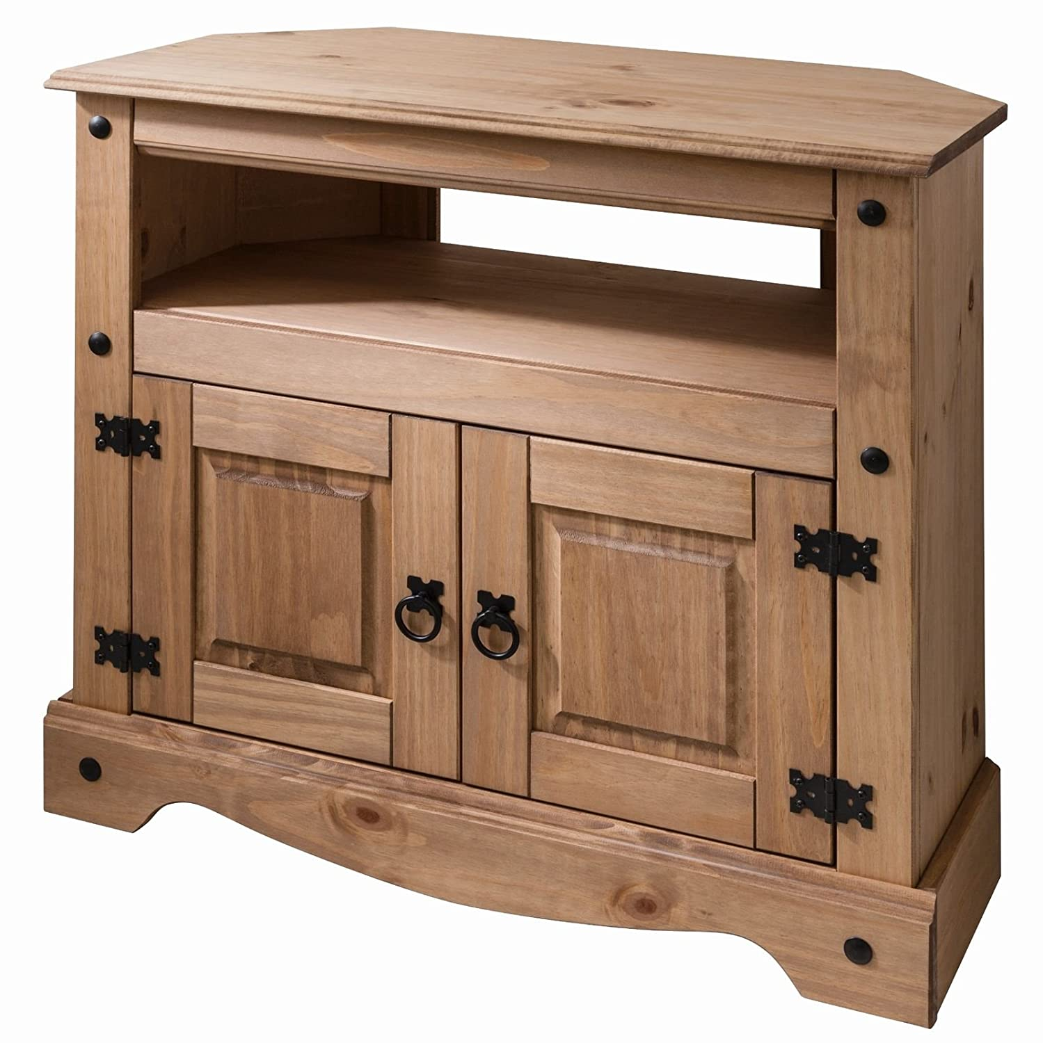 Corona Wooden TV Stand Corner Unit Cabinet - Solid Wood Mews P2001-CR