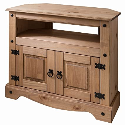 Swell Corona Wooden Tv Stand Corner Unit Cabinet Solid Wood Machost Co Dining Chair Design Ideas Machostcouk