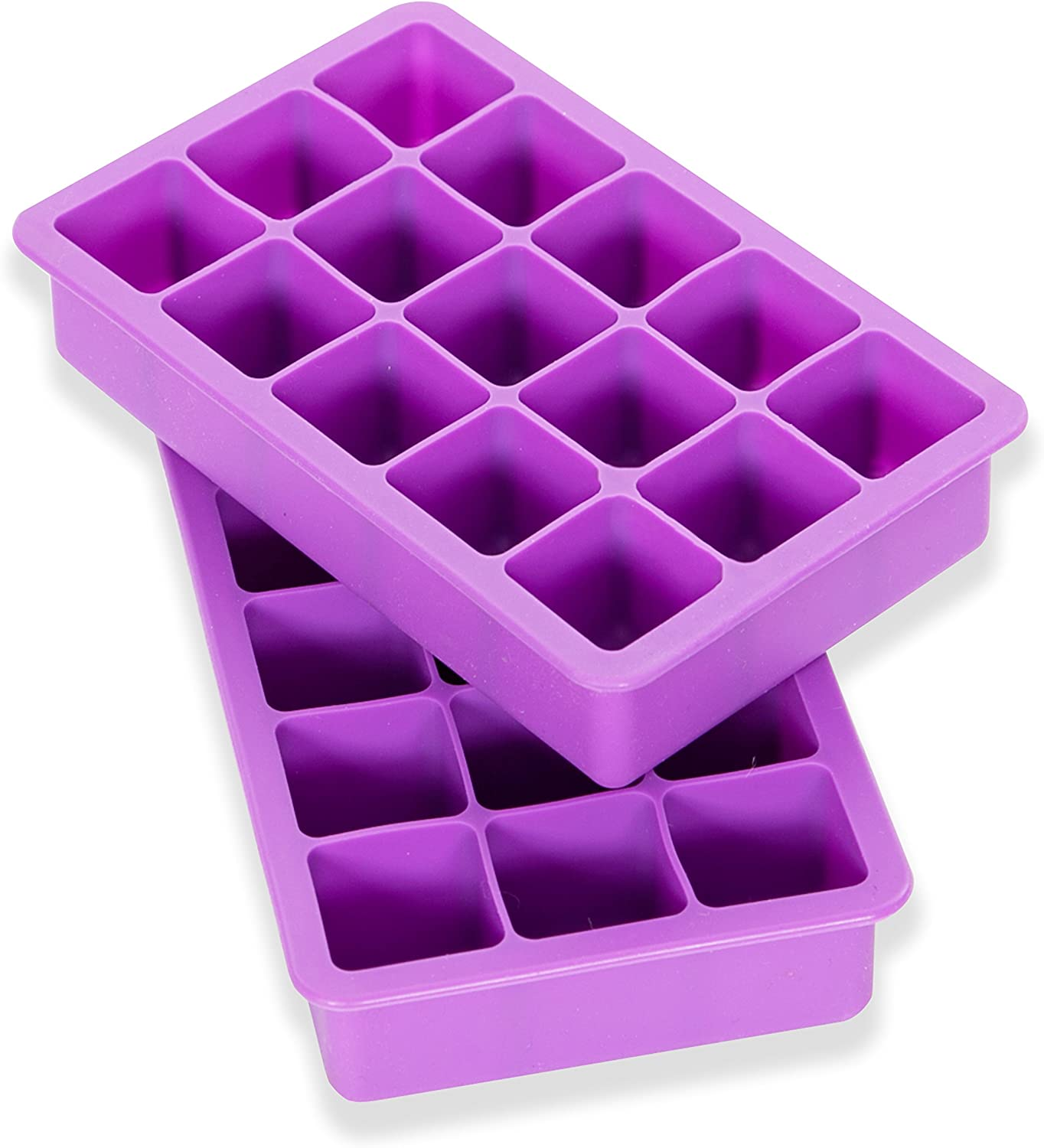 Elbee Home EBH-613 Elbee 613 Coolest 15 Silicone Ice Tray-2-Piece Mold Set